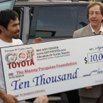 Manny Pacquiao Foundation receives $10k donation from Glendale & Tustin Toyota