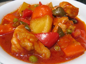 Delicious chicken afritada recipe balita 1 red onion diced forumfinder Gallery