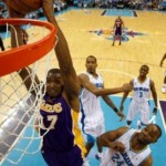Bryant, Lakers, close out Hornets in style