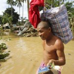 Philippine flood victims' bodies float at sea