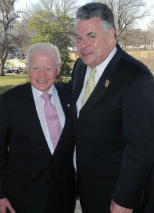 Ambassador Jose L. Cuisia, Jr. with Republican Rep. Pter King of New York, Chairman of the House Committee on Homeland Security. (Philippine Embassy Photo by Ariel Penaranda)