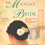 Invitation to The Mango Bride Reading and Reception on June 27, 6:30 pm