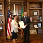 Consul General De La Vega Pays Farewell Call on Los Angeles Mayor Eric Garcetti