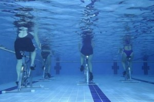 Tired of your usual workout routine? Why not try aqua cycling? ©AMA/Shutterstock.com