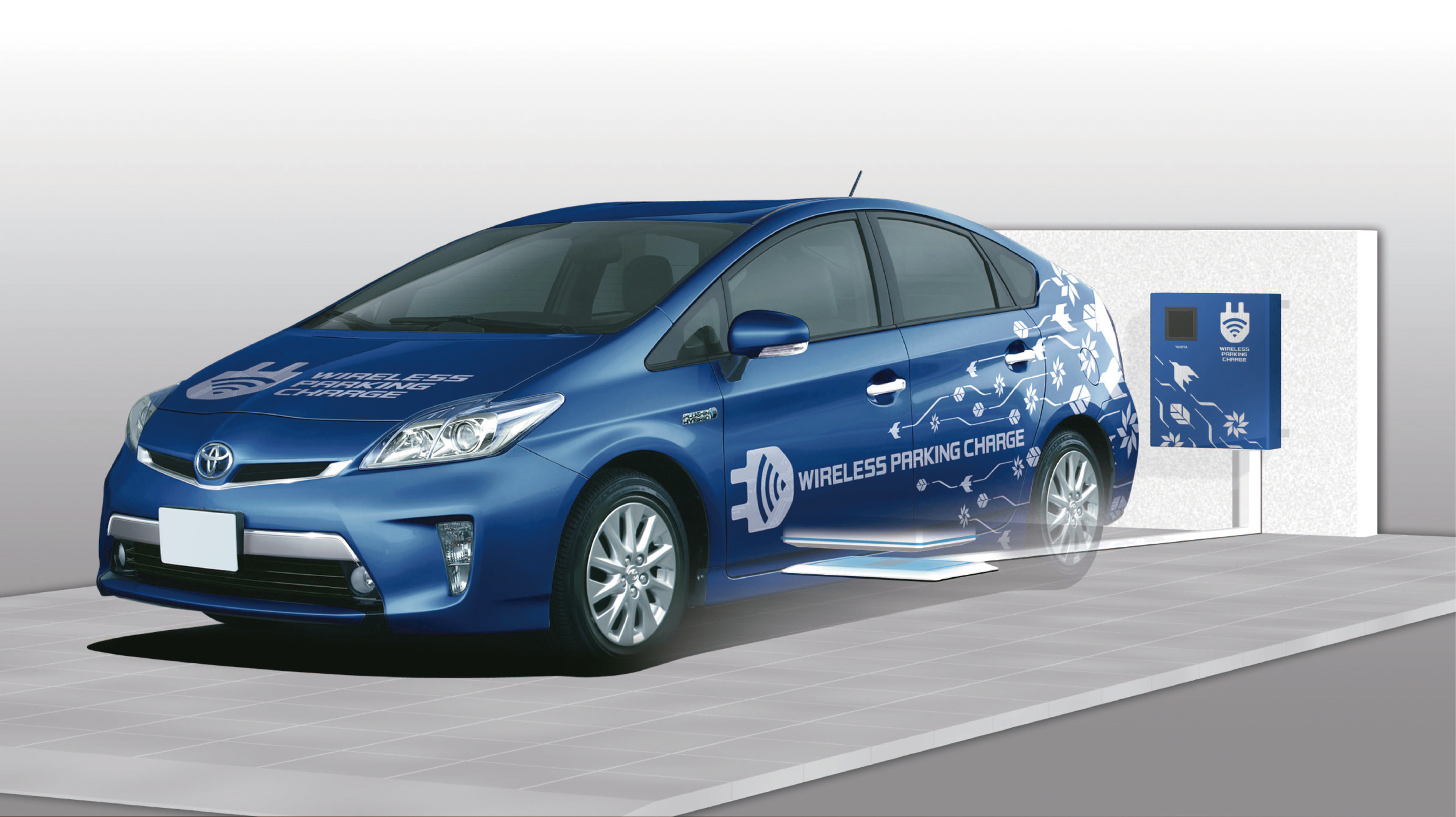 Toyota tests charging with new wireless technology. ©Toyota