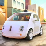 Google's own self-driving cars, no steering wheel