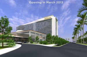 Solaire Resort & Casino, a $1 billion resort operated by Bloomberry Resorts Corporation in the reclaimed area by the Manila Bay, is one of the first of multi-casino Las Vegas-inspired projects in Manila.
