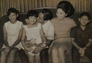 "The Marcoses in their past ""grandeur"" when the late dictator Ferdinand Edralin Marcos was starting to rule the Philippines for 20 years."