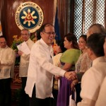 Aquino inducts new officers of Filipino Society of Composers, Authors, and Publishers