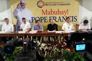Manila Archbishop Antonio Luis G. Tagle as announces the visit of Pope Francis to the Philippines on January 15-19 next year during a press conference July 29, 2014 in Intramuros, Manila. (MNS photo)