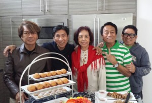 """Shown at the """"Aguilang Bato Gardens"""" Christmas lunch reception were: Charlie Hilario, a friend, yours truly, Danny Bajet and Adolfo Maynes."""