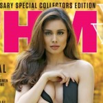 Max Collins bares cleavage on FHM cover