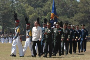 President Benigno S. Aquino III graces the Inauguration of the newly-completed Philippine Military Academy (PMA) Sports Complex at the Jurado Hall, Fort General Gregorio del Pilar in Baguio City on Sunday (March 15, 2015). (MNS photo)
