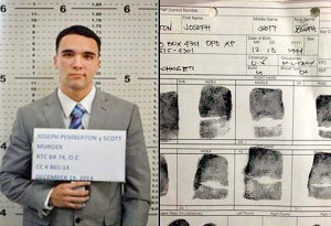Private First Class Joseph Scott Pemberton when his mug shot was taken by Philippine National Police personnel. Pemberton is accused of murdering transgender Jennifer Laude in Olongapo, Philippines.