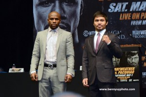 History will be made on  May 2, 2015,  when undefeated American boxing champion Floyd Mayweather, Jr. and Philippine fighting congressman Manny Pacquiao face each other in a fight that fans have been waited for years.
