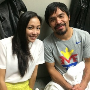 Jannelle So and Manny Pacquiao