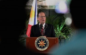 President Benigno S. Aquino III delivers his arrival statement at the Ninoy Aquino International Airport (NAIA) Terminal 2 in Pasay City on Monday (May 11, 2015) from his successful Working Visit to the United States of America and State Visit to Canada. (MNS Photo)