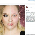 New Instagram trend sees women go half-and-half with their makeup