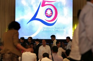 "President Benigno S. Aquino III graces the 45th anniversary celebration of the Presidential Management Staff held at the Reception Hall of the Philippine International Convention Center in Pasay City on Thursday (August 20) with the theme: ""Sustaining the Tradition of Excellence in Public Service."" (MNS photo)"