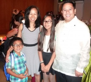"Exposing them young: Cerritos Mayor, Mark Pulido and his wife, Gloria,  brought their two children to see the recent musical ""Noli Me Tangere"" at Cerritos Center for the Performing Arts recently to expose them to the deep cultural heritage of the Philippines."