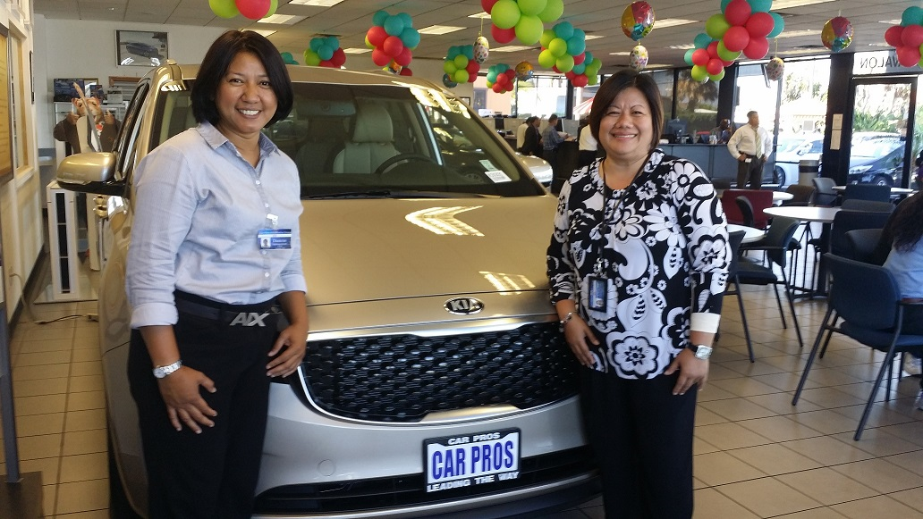Charming Car Pros Kia Carsonu0027s Friendly Filipino Sales Team: Jana Papina (left) And  Cha