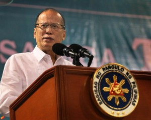 President Benigno S. Aquino III delivers his speech during the Pagpupugay sa mga Technical Education and Skills Development Authority (TESDA) Iskolars at the Cuneta Astrodome in Pasay City on Tuesday (October 06). The program aims to showcase the successful implementation of TESDA Scholarship Programs, celebrate the various achievements of scholars, and recognize the successful partnership of TESDA with various organizations. (MNS photo)