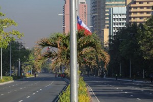 Except for a few security personnel and cleaners, Roxas Boulevard looks immaculate on both sides after being cordoned off from regular traffic and pedestrians on Monday. Police tightened security surrounding the main venues at the start of the Asia-Pacific Economic Conference Summit this week.(MNS photo)