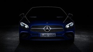 Mercedes-Benz SL teaser image The new premium sports coupé is one of 30 cars making their global debut at this year's event. ©Daimler AG