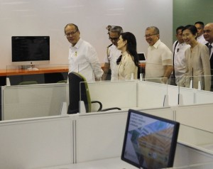 President Aquino attends the inauguration of Pointwest Digital Center at Rockwell Business Center in Pasig City (MNS photo)