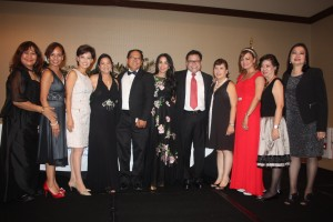 """OC Achievers: Achievers in the business community of Orange County, shown with Representative Young Kim of California (third from left) were recognized at the recent """"Monte Carlo Style"""" 21st Awards Gala Night of the Filipino American Chamber of Commerce of Orange County at a Garden Grove venue."""