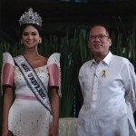 Miss Universe 2015 Pia Wurtzbach pays courtesy call on Aquino