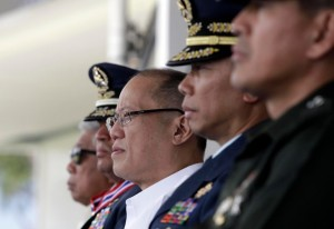 President Benigno S. Aquino III graces the Philippine Air Force Change of Command and Retirement Ceremony at the Air Education and Training Command Grandstand, Fernando Air Base in Lipa City, Batangas on Wednesday (March 09). (MNS photo)