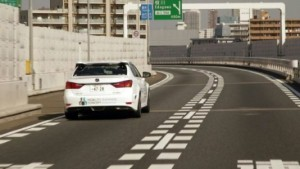 A self-driving car by Toyota, expected for release in 2020. © AFP