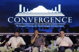 """Duterte graces historic Convergence in Alabel, Sarangani (June 23, 2016) – The Provincial Government of Sarangani hosts the historic event """"Convergence: The Inaugural Ceremony of a United Sarangani and General Santos"""" Wednesday, June 22. It was the oath-taking ceremony of the first-ever Sarangan to be elected Senator, Rep. Emmanuel Pacquiao, graced by the first-ever Mindanaoan to be elected President, Mayor Rodrigo Roa Duterte, along with re-elected Governor Steve Chiongbian Solon. Officials from General Santos City and Sarangani were also sworn into office. (Kim Tiblani/Provincial Governor's Office)"""