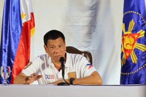 President Rodrigo Duterte elaborates more on the allegations against Senator Leila De Lima during a press conference held at the Presidential Guest house in Davao City on August 20.  (MNS photo)